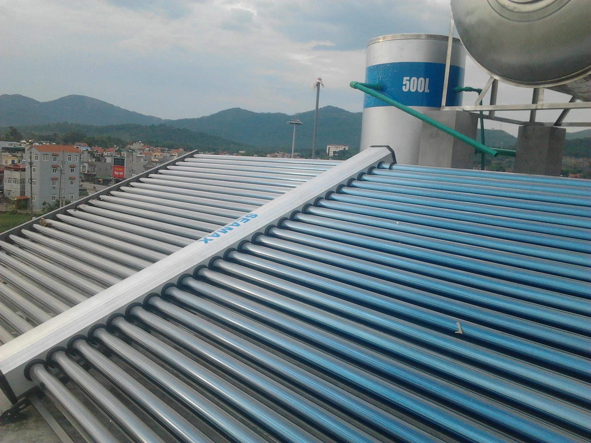 Máy năng lượng mặt trời hệ công nghiệp 500L